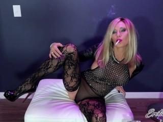 Sexy MILF Smokes VS120 For You In Lace Stockings – Erotic Nikki Ashton