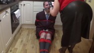 Bound fisting Man in school uniform bound and gagged all night - part 1 of 9 cam 1