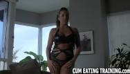 Pussy eating training - Cum eating fetish and pov femdom videos