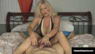 Whats a small penis Small penis craving cougar charlee chase gives superb handjob