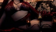 Transsexual spell Curvy femdom witch casts a shrinking spell on your dick - jerk off game