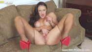 Big boobs and pantyhose Horny big boobs brunette cleo summers jerks off in ripped sheer pantyhose