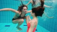 Naked girl in pool Three girls avenna, nina and marketa naked in the pool