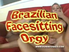 Brazilian Queening Fuck-a-thon - 2 Ladies Screw And Deep-throat A Fellow Off Dominating