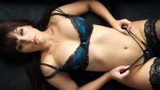 all natural busty aussie babe kiara edwards strip tease in sexy lingerie