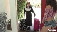 Slutty Teen Lesbian Fingering and Toying Her Nun Stepsister Before 69ing