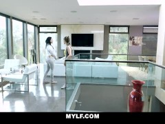 Mylf - Milf Lesbian Seduces Straight Damsel With Strapon