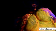 Olivia hussey nude turkey shoot video - Natasha shoots a fun black light video