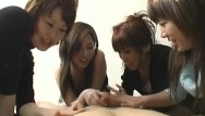 Country women cumshots - Cfnm handjob with cumshot by group of dominant japanese women