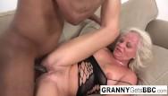 Sexy granny gets fucked - Interracial compilation
