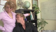 Mature pregnant white women Mature boss in white stockings enjoys riding his big cock