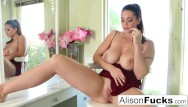 Tyelr the dumb ass Alison tyler shows off her curves