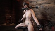 Soft leather anti masturbation device Red headed lauren phillips in grueling tight bondage and suffering