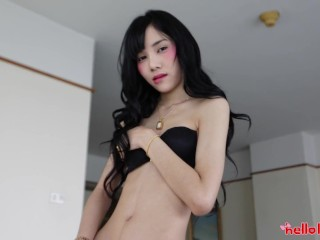 Helloladyboy Skinny Ladyboy Asshole Stretched Out By Big Cock