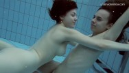 Lesbians neced Hairy and shaved lesbians naked in the pool
