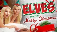 Roger and the lesbian elves Vrconk ffm threesome with two hot sexy blonde elves vr free porn