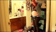 Mature top heavy in clothes Heavy pregnant clickbait custom video trying on clothes that dont fit