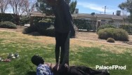 Amature porno tall - Tall friend jumping and stomping trample at the park