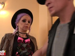 Fake Cop Hot Pink Hair Teenie Lliy Parker Taut Pussy Opened Up By Big Penis