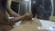 Hand job asian sluts - Thick anonymous asian escort gives hand job in hotel w/ huge cumshot
