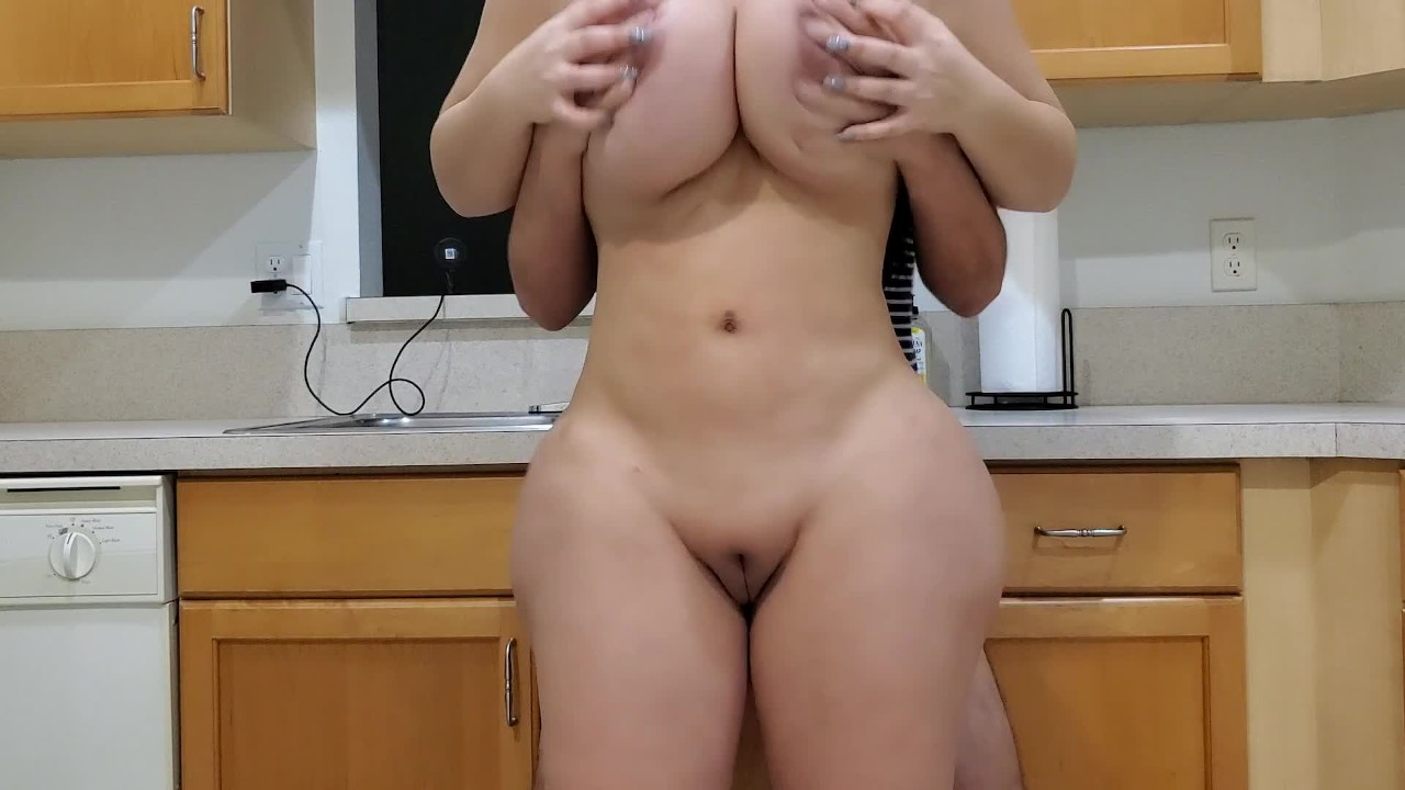 Big Ass Stepmom Fucks Her Stepson In The Kitchen After -6989