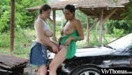Pick up sexy milfs Voluptuous lesbian picks up sexy hitch hiker and plays with her