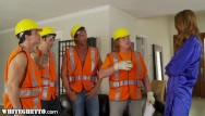 Factory worker gangbang Horny housewife gangbanged by construction workers -whiteghetto