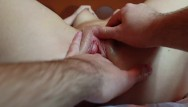 Big clit pussy from behind Lubed pussy massage. explosive orgasm. hot clit massage