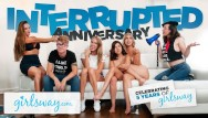 Lesbian sex tube8 Interrupted 5 year anniversary sex - girlsway