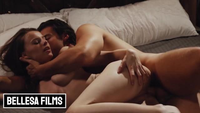 Bellesa - Athletic Brunette Jillian Janson gets cum on her tight pussy