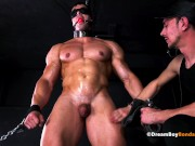 Muscular Slave Boy Dominated By Kinky Master With A Huge Cock