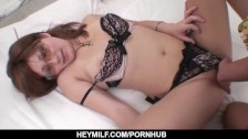 mariko ends massive fuck pussy play with cum on boobs