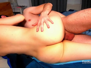 Creampied Hot Blonde Babe After Intense Sex – Amateur Couple NN