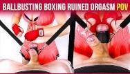 Asian women torture - Ballbusting boxing handjob balls torture ruined orgasm cbt pov era