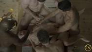 Gay sex tv hotbird - The banquet - gay bareback gangbang