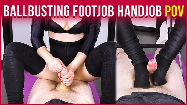 Cock & Balls Torture with Footjob and Cum Blocking CBT POV | Era