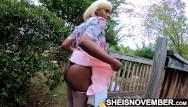 Rolled down her ass crack Hot ebony teen school girl standing with undies inside her ass crack
