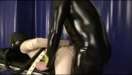 Latex etal Bondage rubber slave girl in straightjacket fucked by latex gas mask dom