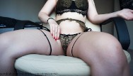 Sexy revealing underwear - Masturbation in a beautiful underwear from sexy girl
