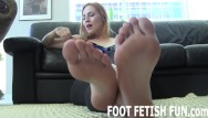 Foot worship hot blonde sucks toes Pov foot fetish and feet worshiping videos