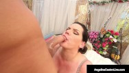 Busty blonde cock suckers Cuban cock sucker angelina castro stuffs her mouth with strangers cock