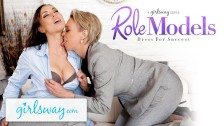 Mature Lesbian Gifts Aidra Fox a Power Suit & Feels her Up - GIRLSWAY