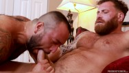 Bear and gay and adam4adam - Julian torres chokes on riley mitchels cock - bearback