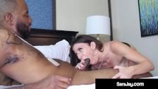 Horny PAWG Cougar Sara Jay Bangs & Milks A Big Black Cock Ride Share!