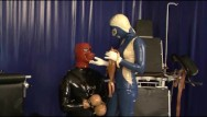 Heavy rubber bondage dvd Heavy rubber latex mistress and her slave bound breathcontrol piss drinking
