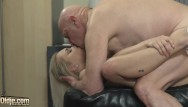 Old grandpa sucking dick Sexy nurse gives great handjob and blowjob to grandpa