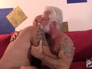 Silver Daddy Gets Rimmed, Plowed and Takes a Massive Load