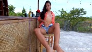 Online adult bar Crazy risky masturbation in open-air bar in coronavirus time hq