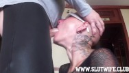 Female nude standing on head free Submissive bald headed slave girl enjoys a brutal sloppy facefuck