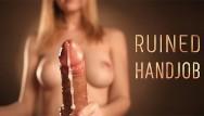 Handjob cumshot ass Pov ruined cumshot - sensual edging with intense handjob